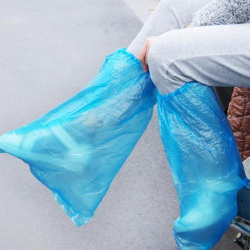 5 Pairs Plastic Disposable Rain Shoe Covers High Quality Waterproof Thick High-Top Anti-Slip Rainproof Shoe Covers