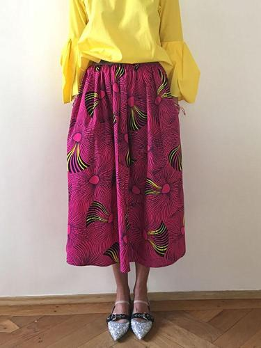 Women's Fashion Casual Printed Skirt RY58