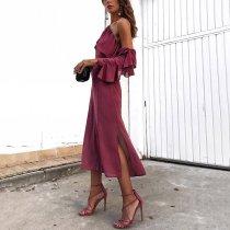 Sexy Elegant Halter Neck Prunosus Maxi Dress