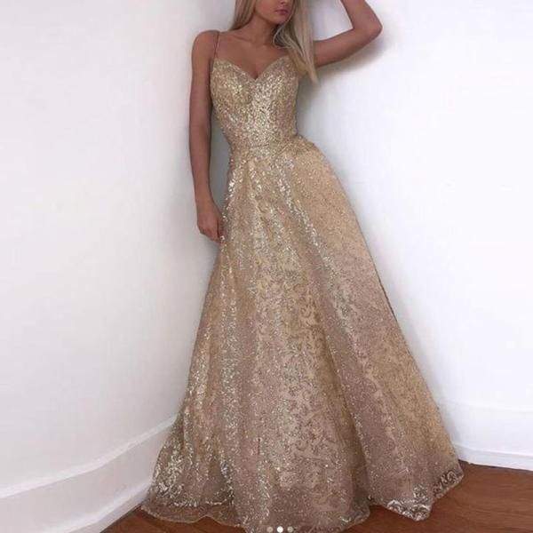 Sexy Off-the-shoulder Glamorous Long Evening Dress