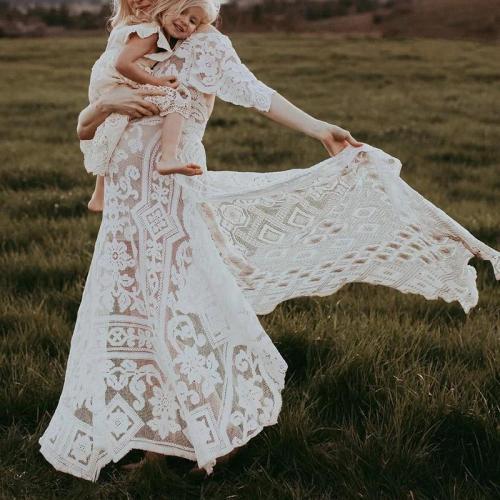 Maternity Sexy V-neck Lace Halter Irregular Dress