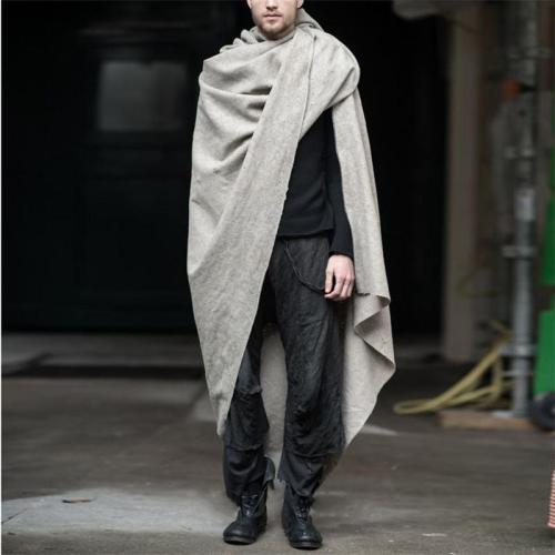 Men's Solid Color Knit Cloak