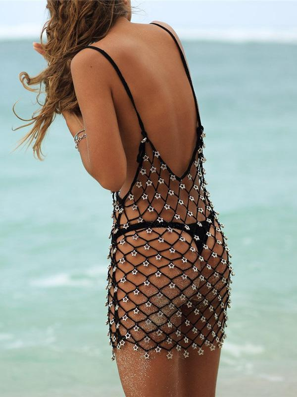 Sexy Black Loose Cover-Ups
