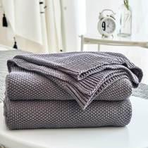 Sweater Cotton Weave Blanket / Full/queen