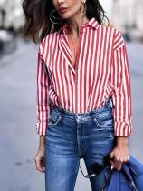 Long Sleeve Striped blouse Shirt Top