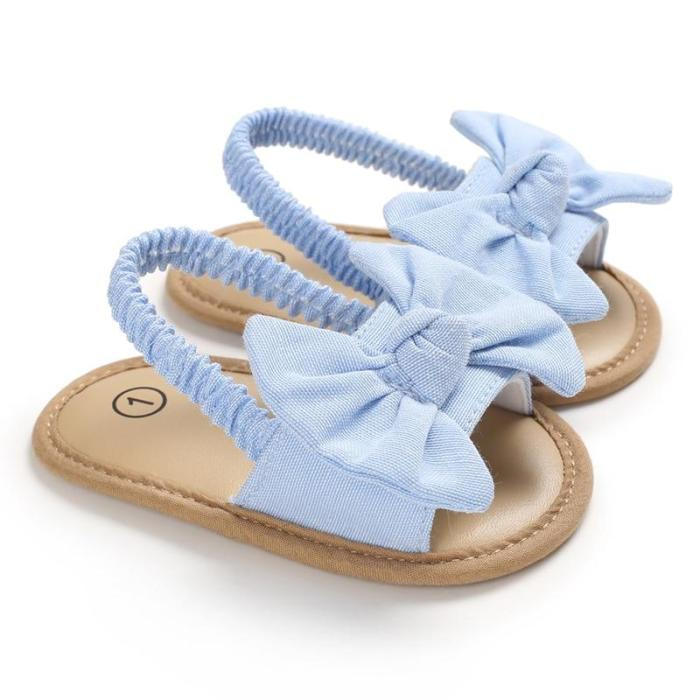 2020 Baby Girls Bow Knot Sandals Cute Summer Soft Sole Flat Princess Shoes Infant Non-Slip First Walkers