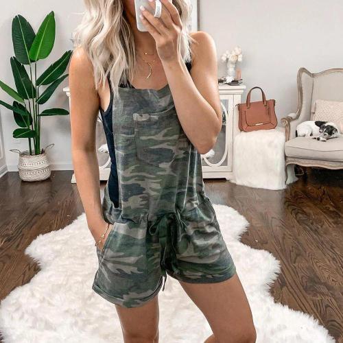 EBUYTIDE Casual Camouflage Printed Sling Pajama Jumpsuit