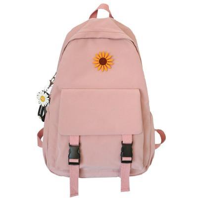 Student Lady Flower Backpack Cute Women Harajuku College School Bag Book Female Kawaii Backpack Waterproof Nylon Bag Girl Trendy