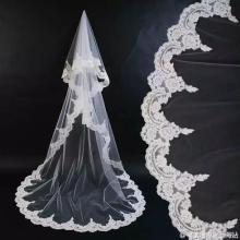 Elegant Bridal Veil Lace Edge One Layer Tulle Wedding Veil Without Comb 3*1.5 M Women Bridal Veil 2020