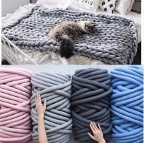 500g 250g thick super Bulky chunky yarn for hand knitting Crochet soft big cotton DIY Arm Knitting Roving Spinning yarn blanket