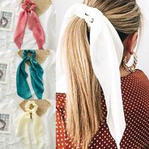 EBUYTIDE Summer Ribbon Scrunchies Women Hair Scarf Elastic Hairband Bohemia Hair Rubber Ropes Horsetail Ties Hair Accessories
