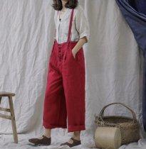 Vintage Linen Suspender Pants