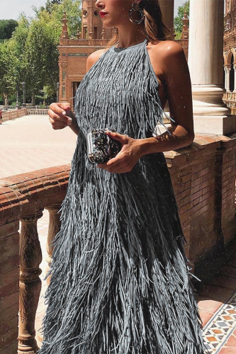 Sexy Backless Sleeveless Maxi Dress