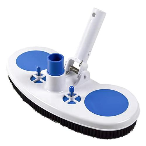 Swimming Pool Suction Vacuum Head Brush Cleaner Hard Curved Cleaning Tools Wall & Floor Brush Bristles Cleaner Broom Hot Tub