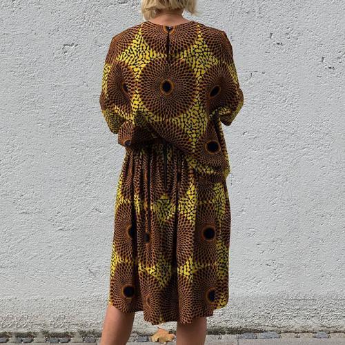 Casual Round Neck Print Loose Dress RY58