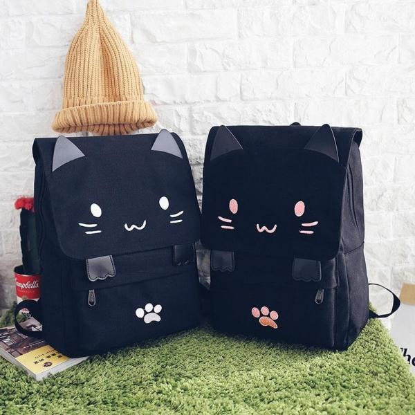 Fashion Women Backpack College School Bagpack Japan Harajuku Cat Cute Bag Large capacity Travel Shoulder Bags For Teenage Girls