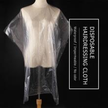 50pcs Disposable Hairdressing Shawl Perm Dyed Hair Cape Gown Hair Coloring Capes Transparent Scarf Waterproof Membrane Cloth