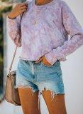 Round Neck Tie-dye Casual Sweatshirt