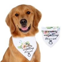 Pet Bandana, Dogs White Valentine's Day Triangle Bibs Collar Dog Wedding Accessories Cat Scarf for Puppy Small Dogs Cats