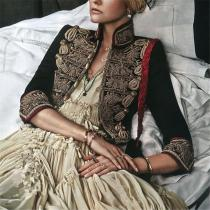 Ladies Vintage Embroidered Blazer