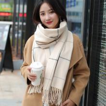 New fashion knitted autumn winter female Korean warm elegant scarf women girls sweet tassel scarf wool flash scarf wild shawl