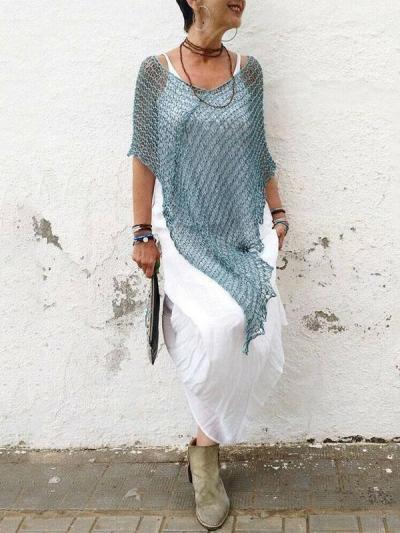 Hollow Crochet Cover-Up Swimwear