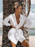 Hollow Lapel Sun-protection Cover-up