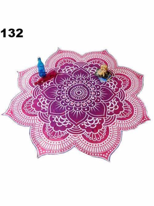Bohemia Lotus Pattern Shawl Beach Mat Yoga Mat