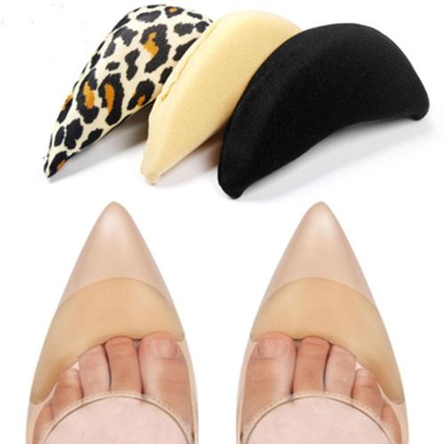 1 pair Anti-Pain Cushion Foot Forefoot Half Meter Shoes Pad Top Plug Pointed Round Shoe Inserts Insoles Toe Shoes Accessories