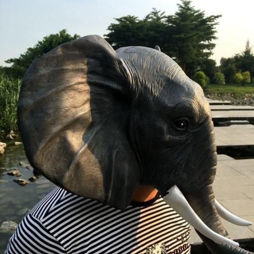 Cosplay Funny Animal Elephant Mask For Party Halloween