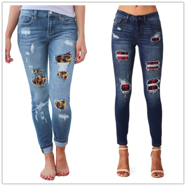 women's ripped Fashion stretch Skinny denim casual hipster jeans