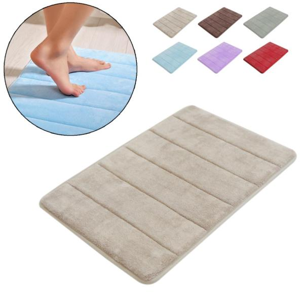Shaggy Memory Foam Bath Mat Set  Mat Carpet For Toilet Non Slip