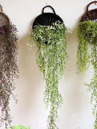 Garden Wall-mounted Flower Basket Handmade Rattan flower Flowerpot Rustic Birds Nest Basket pot