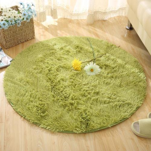 Round Rug Carpets for Living Room Carpet Kids Room  Long Plush Rug