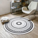 Nordic Gray Series Round Carpets For Living Room Rugs And Carpets