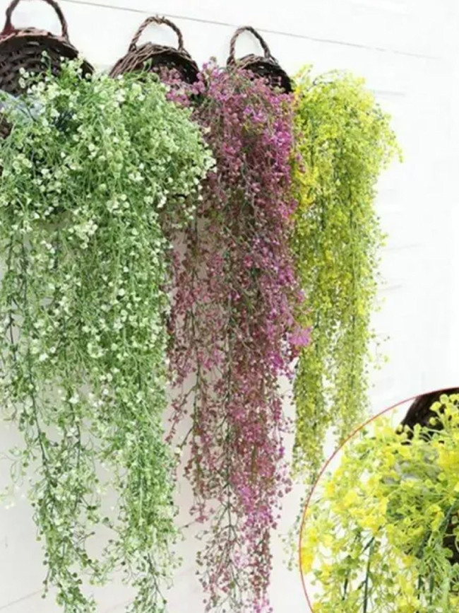 Artificial Flowers Cellling Wall Hanging Flower Vine Wedding Decoration Hanging Plant