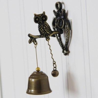 Vintage Horse Elephant Owl Shaped Bell Doorbell Halloween Hanging Door Decor Doorbell