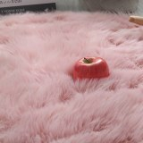 Round Soft Faux Sheepskin Fur Area for Bedroom Living Room Floor Shaggy  Rugs