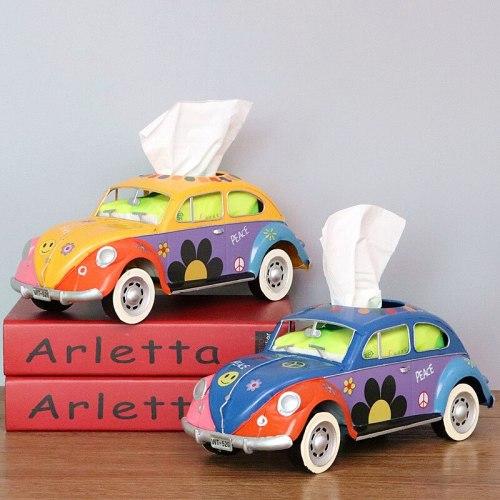 Retro Car Tissue Box Home Decor