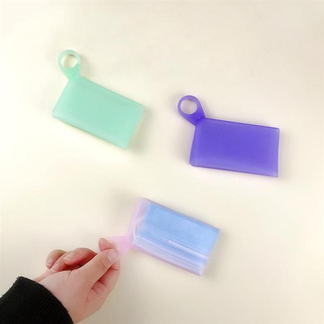 4PCS Portable Mask Storage Case Clips