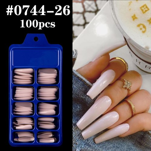 100pcs Coffin Nail Tips DIY False Nail Full Cover