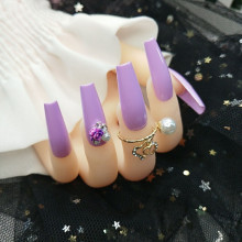 500pcs Colorful False Nails Tips Coffin Nails