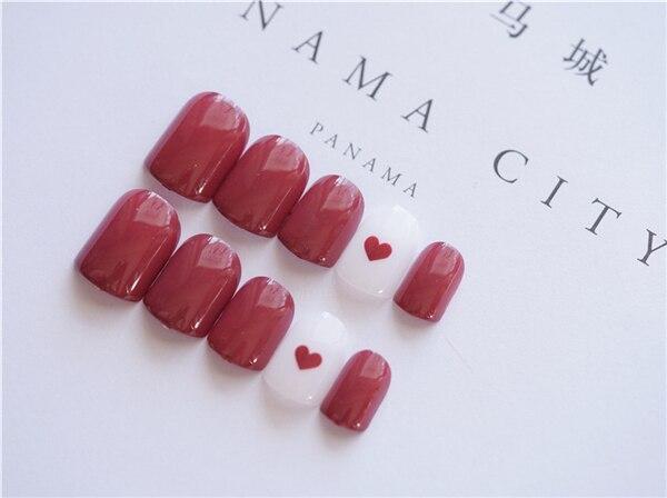 24Pcs Elegant Fake Nails Artificial Nail Tips