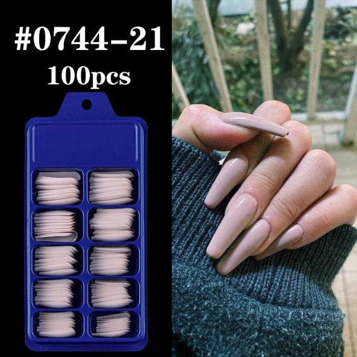 100pcs Coffin Nail Tips DIY False Nail Full Cover