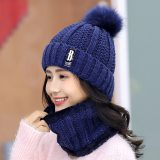 Winter Knitted Hats Women Beanie Hats Sets