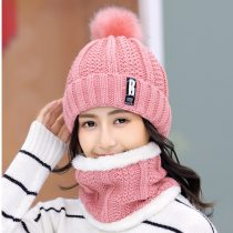 Winter Knitted Hats Women Beanie Hats Sets