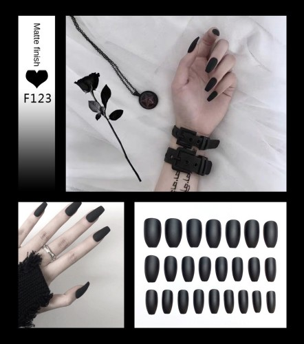 Coffin Matte Fake Nails Press on False Nails