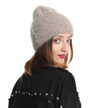 30% Rabbit Fur Beanie Hat Women Winter Hats
