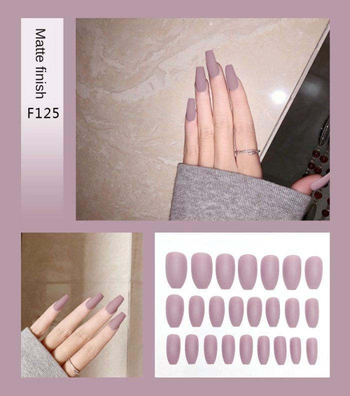 Coffin Matte Fake Nails Press on False Nails