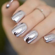 Shiny Punk Style False Nails Press on Nail Tips